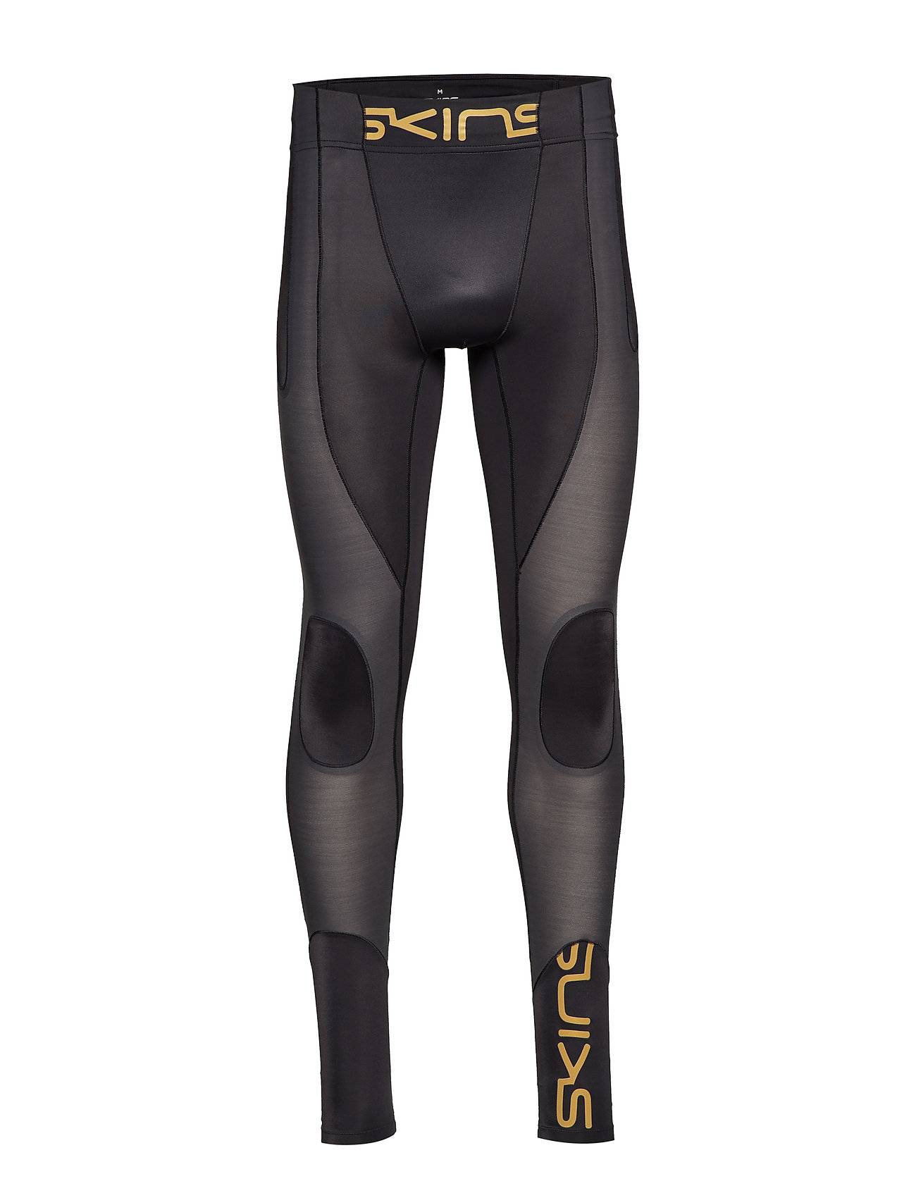 Image of Skins Dnamic Ultimate K-Proprium Mens Long Tights Running/training Tights Musta Skins