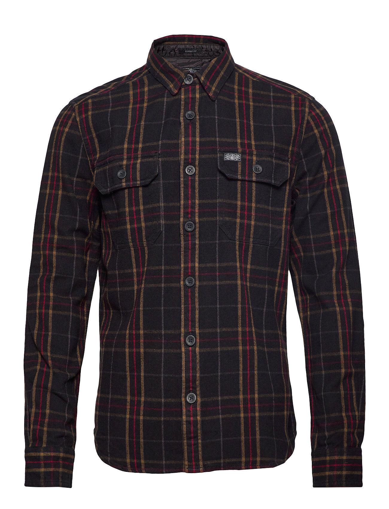 Superdry Merchant Milled L/S Shirt Paita Rento Casual Monivärinen/Kuvioitu