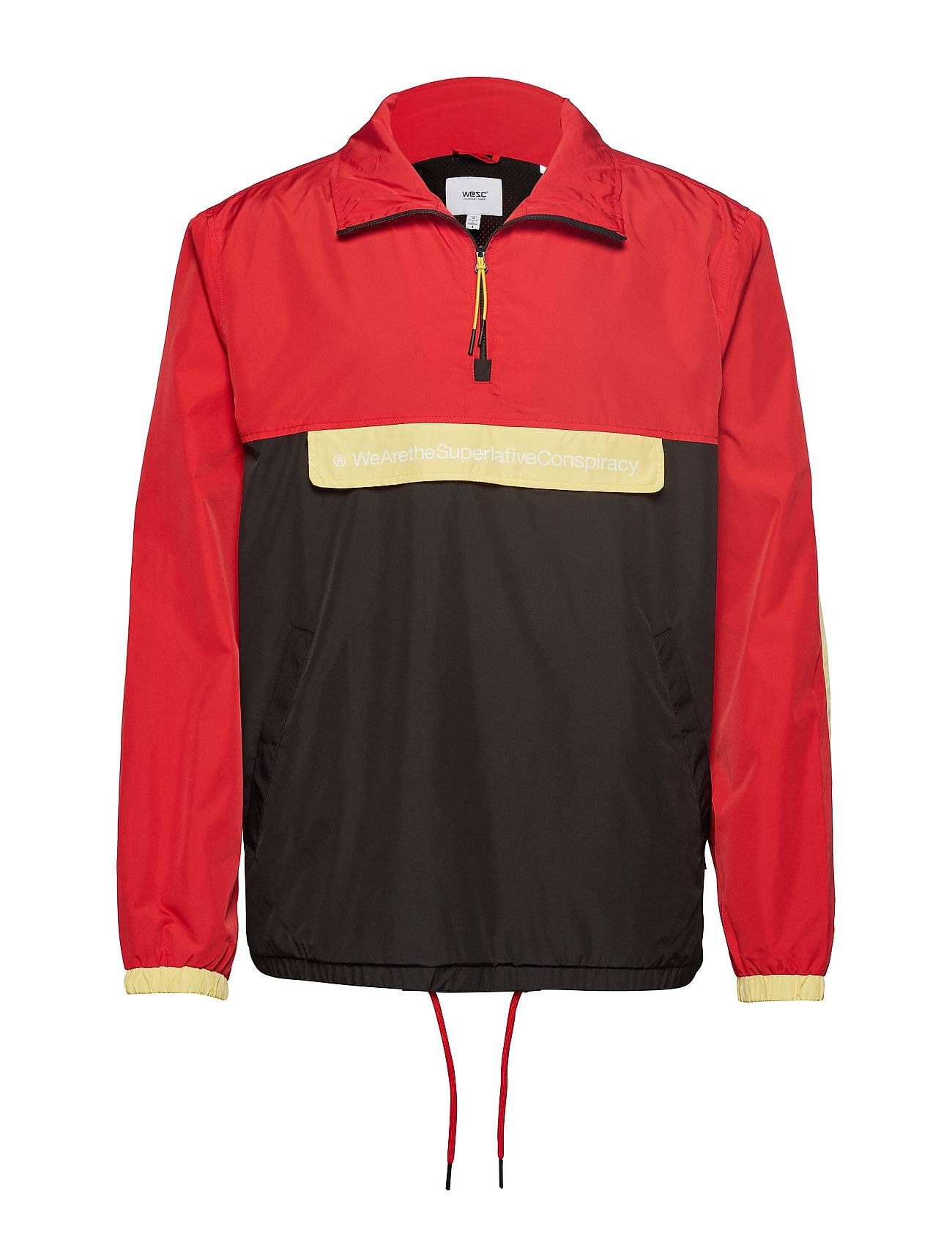 WeSC The Blocked Anorak Outerwear Jackets Anoraks Punainen WeSC