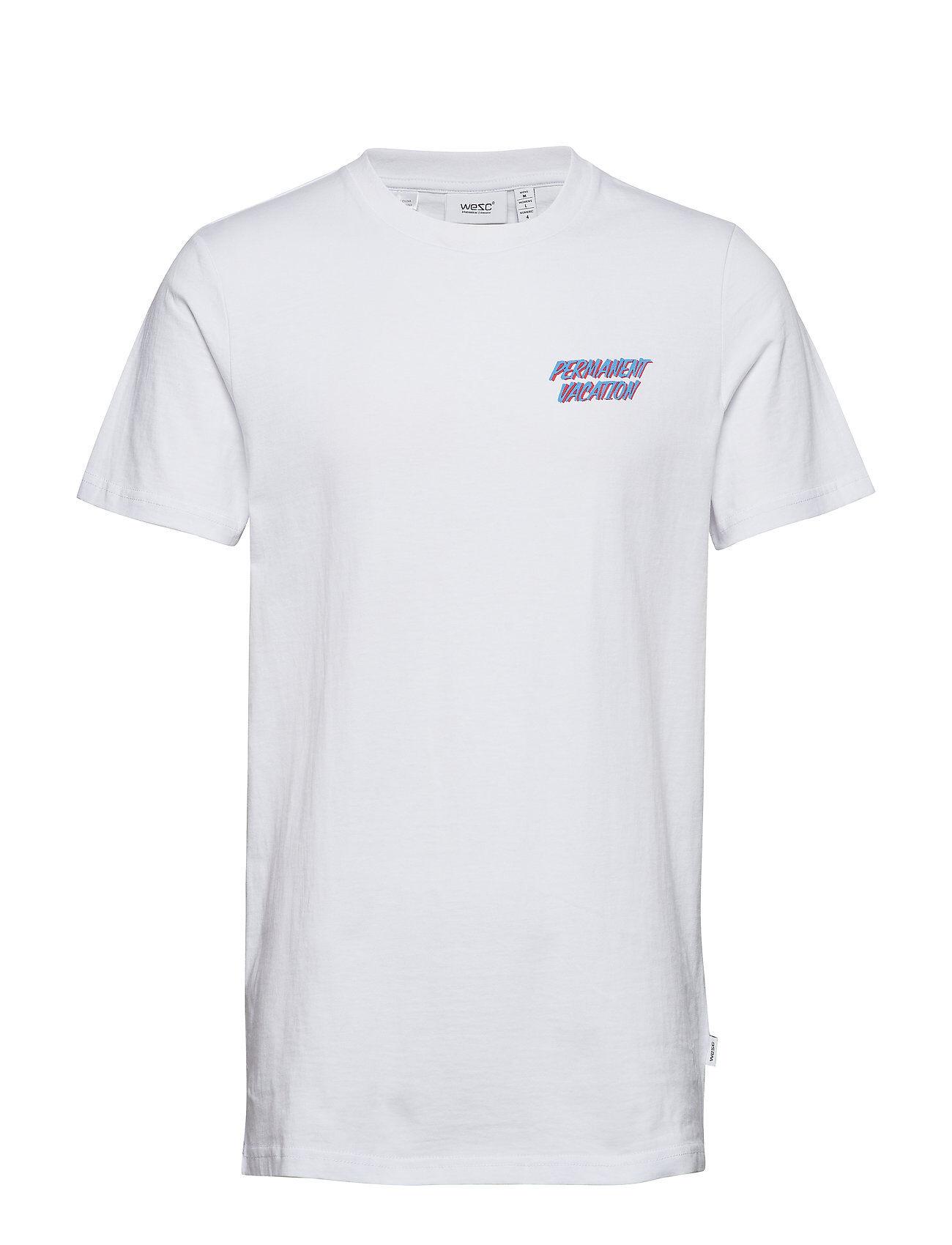WeSC Max Vacation T-shirts Short-sleeved Valkoinen WeSC