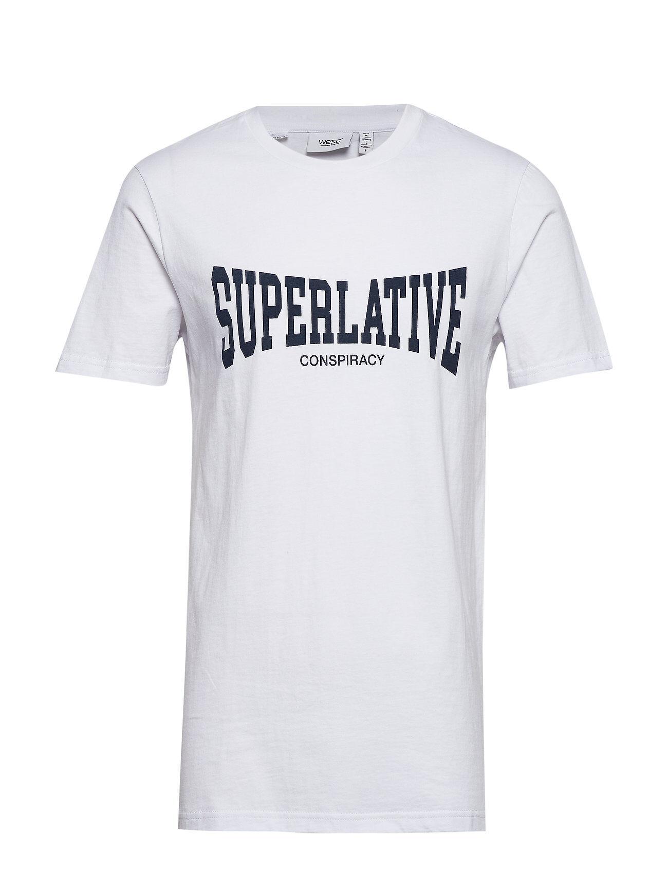 WeSC Max Superlative T-shirts Short-sleeved Valkoinen WeSC