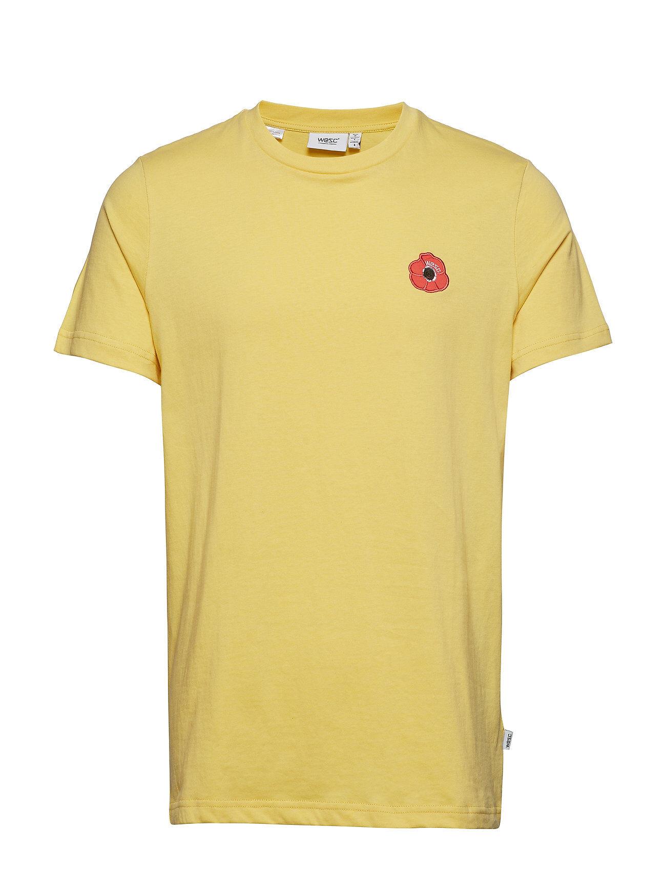 WeSC Max Poppy T-shirts Short-sleeved Keltainen WeSC
