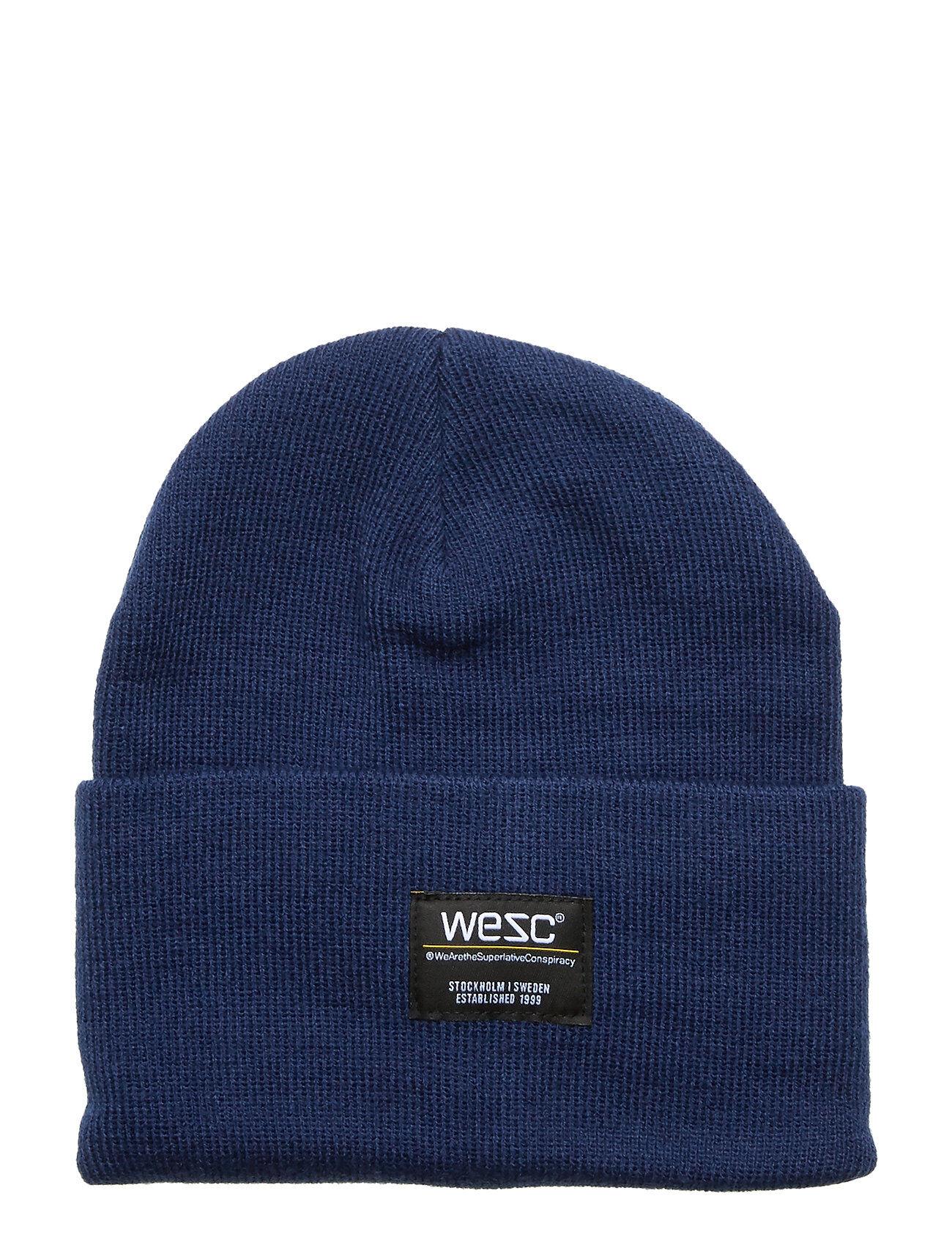 WeSC Puncho Beanie Accessories Headwear Beanies Sininen WeSC