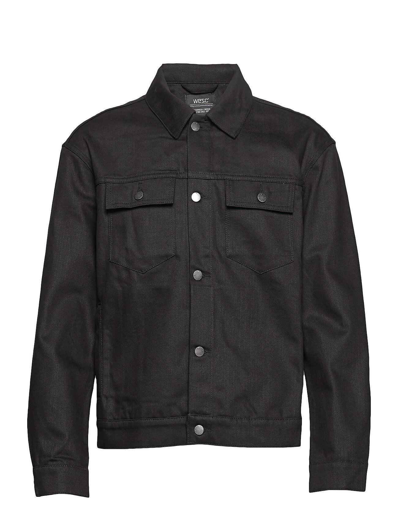 WeSC Denim Jacket Stay Black Farkkutakki Denimtakki Musta WeSC