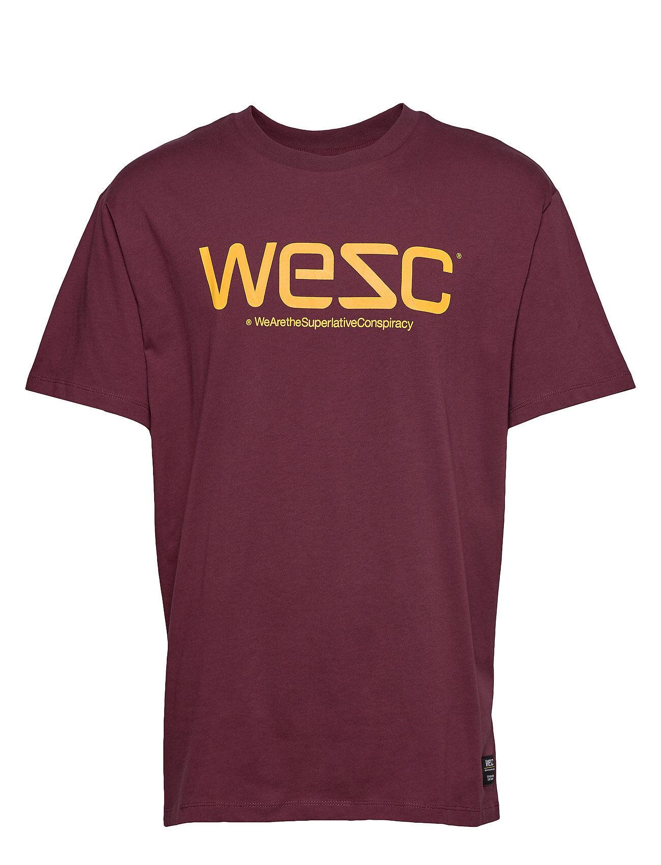 WeSC Mason Logo T-Shirt T-shirts Short-sleeved Punainen WeSC