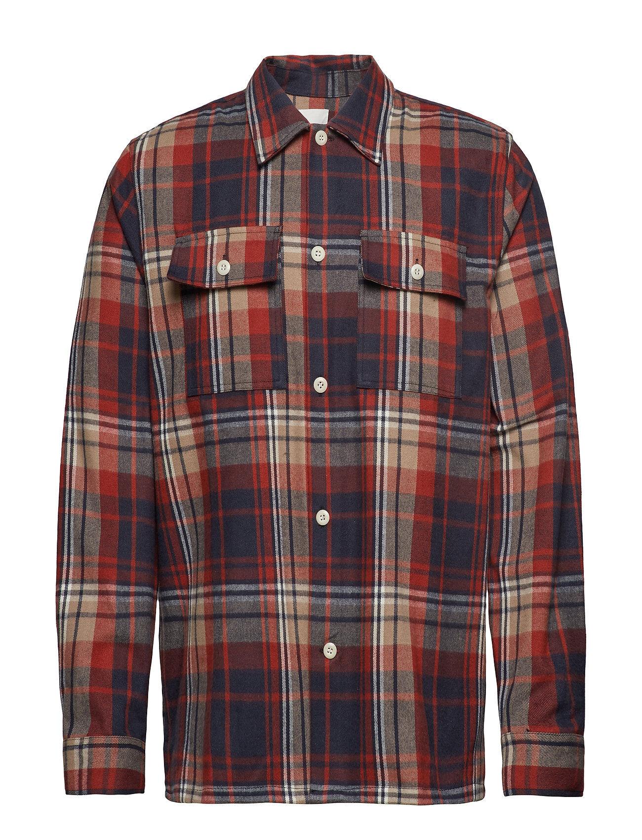 Wood Wood Franco Shirt Paita Rento Casual Punainen