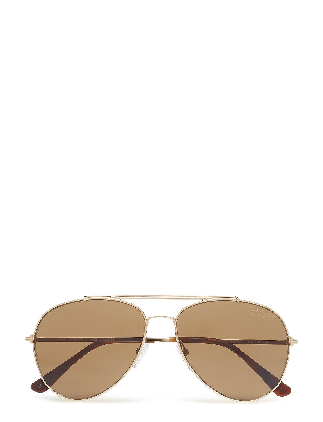 Image of Tom Ford Sunglasses Tom Ford Indiana Pilottilasit Aurinkolasit Kulta