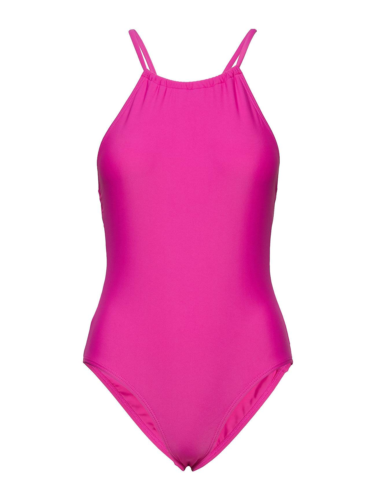 French Connection Core Quick Dry Swim Cross Back Costume Uimapuku Uima-asut Vaaleanpunainen French Connection