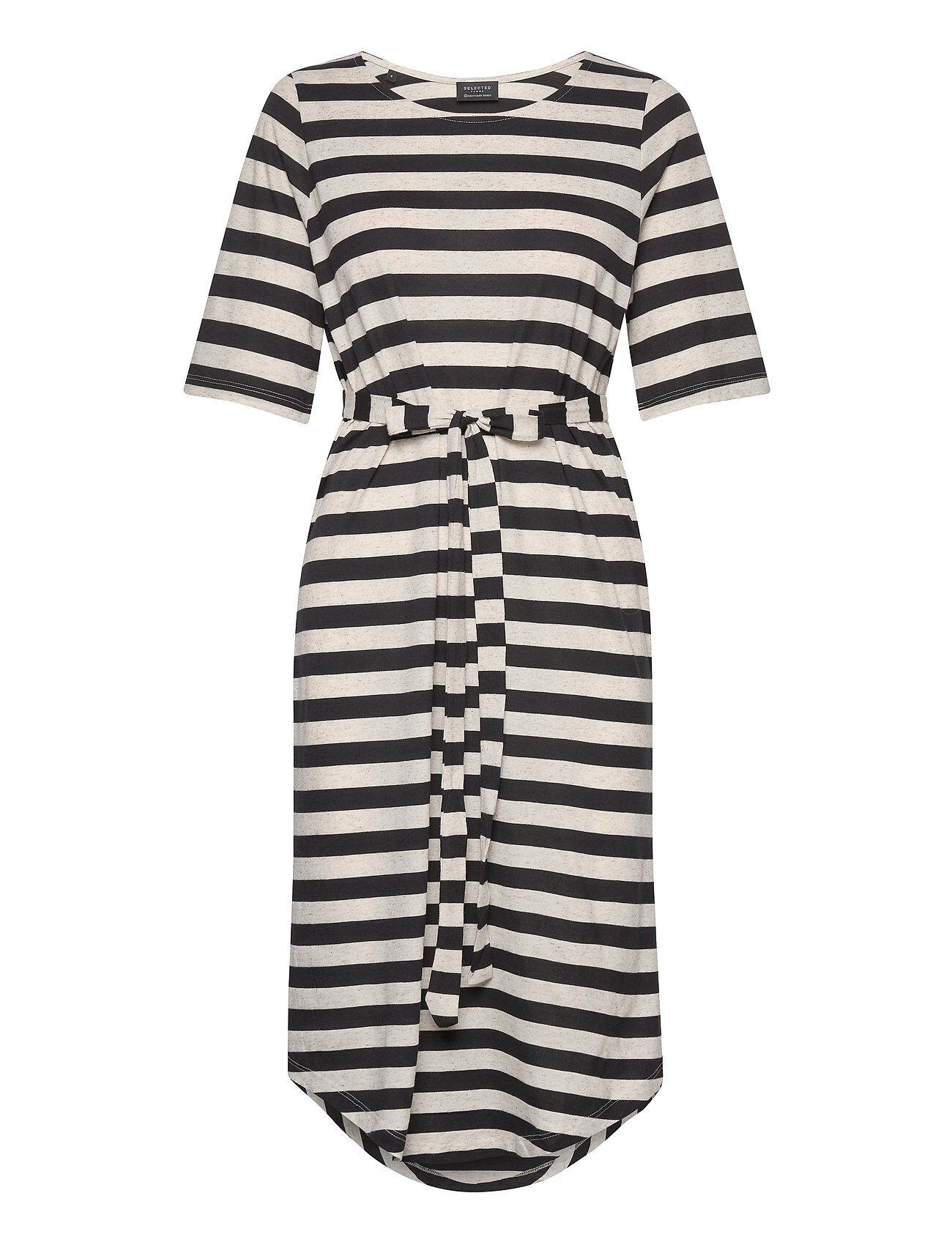 Selected Femme Slfivy 2/4 Beach Dress B Rantavaatteet Musta Selected Femme