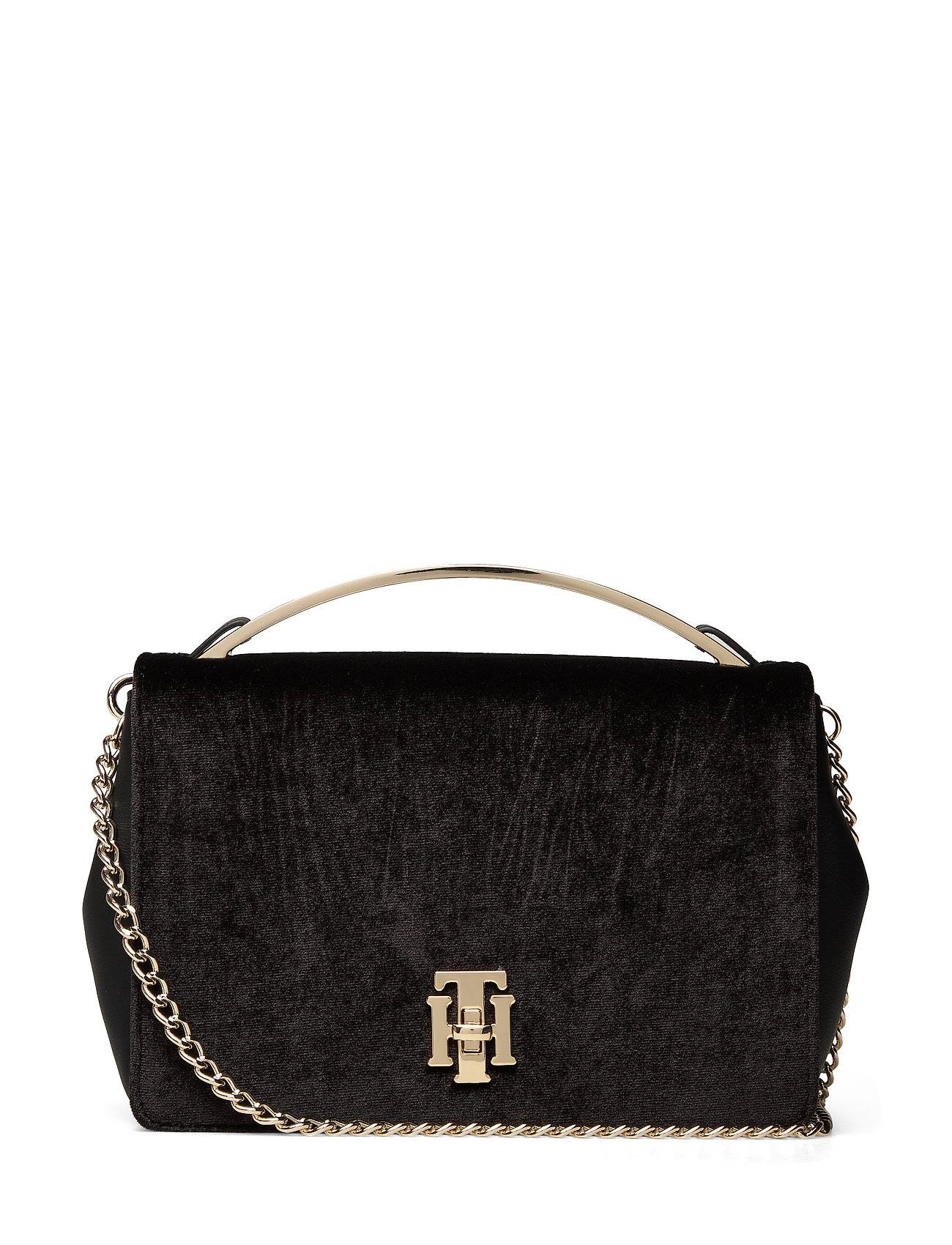 Tommy Hilfiger Th Lock Crossover Vt Bags Small Shoulder Bags - Crossbody Bags Musta