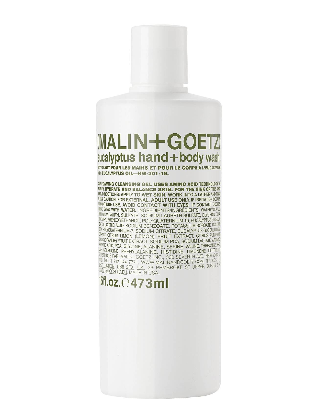 Malin+Goetz Eucalyptus Hand + Body Wash Beauty MEN Skin Care Body Shower Gel Nude Malin+Goetz