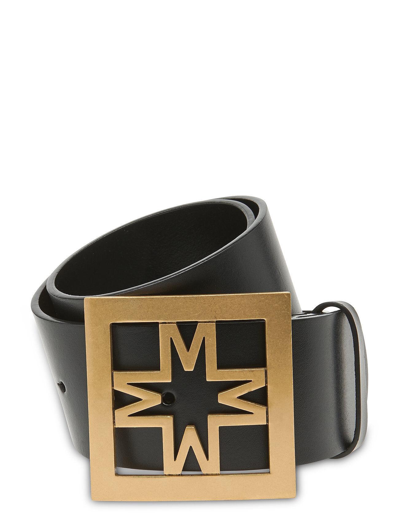 By Malina Iconic Leather Belt Vyö Musta By Malina