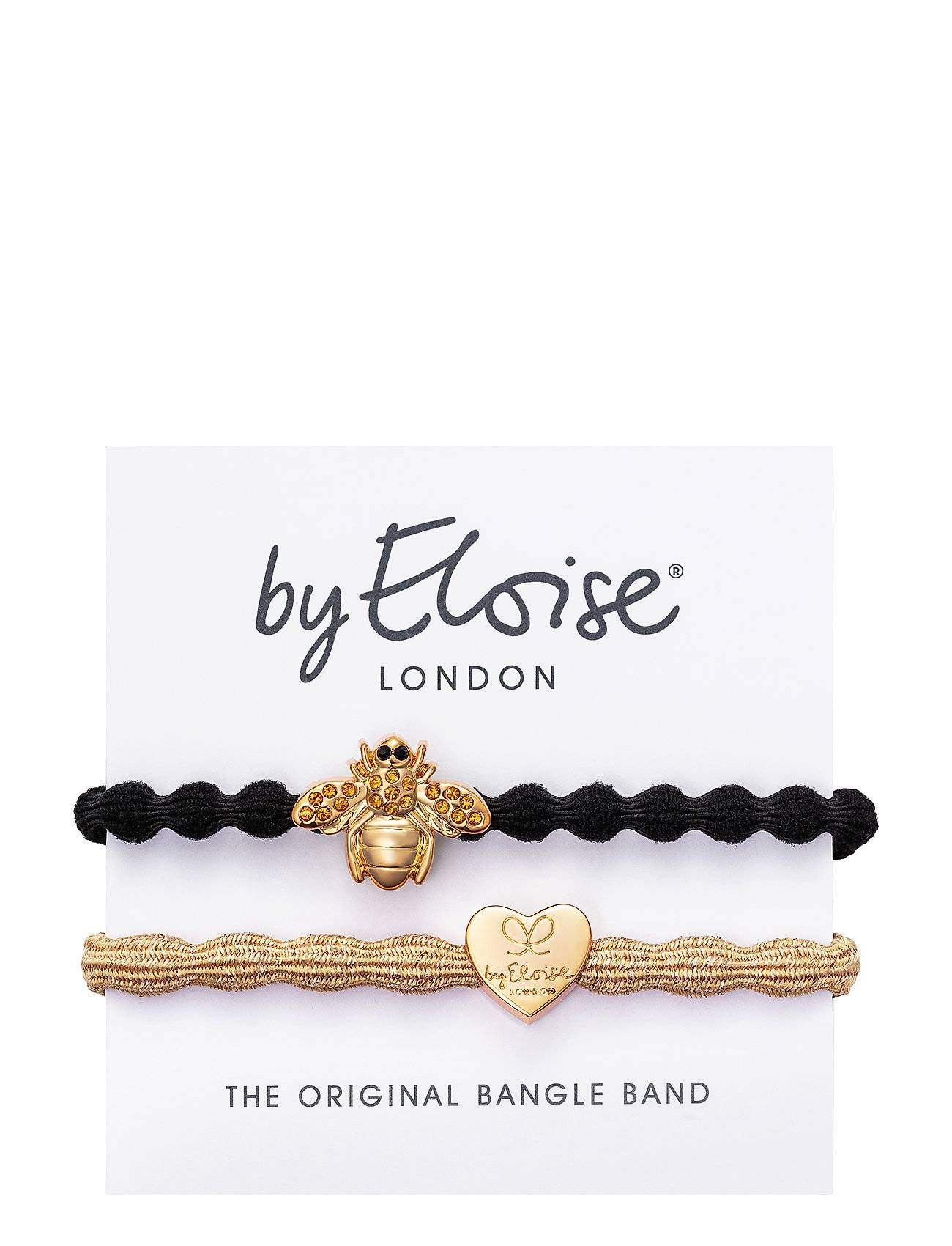 Image of ByEloise Gold Heart On Gold Metallic And Bling Bee On Black Beauty WOMEN Hair Hair Accessories Kulta ByEloise