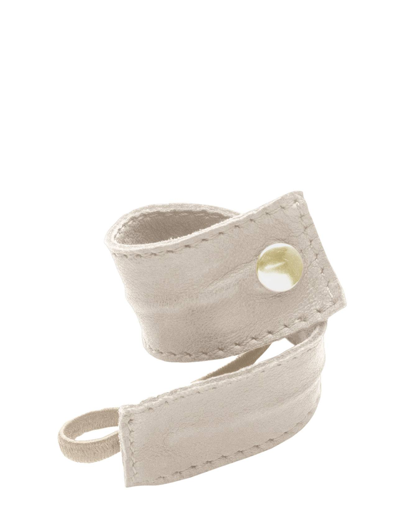 Image of Corinne Leather Band Short Bendable Beauty WOMEN Hair Accessories Hair Accessories Beige Corinne