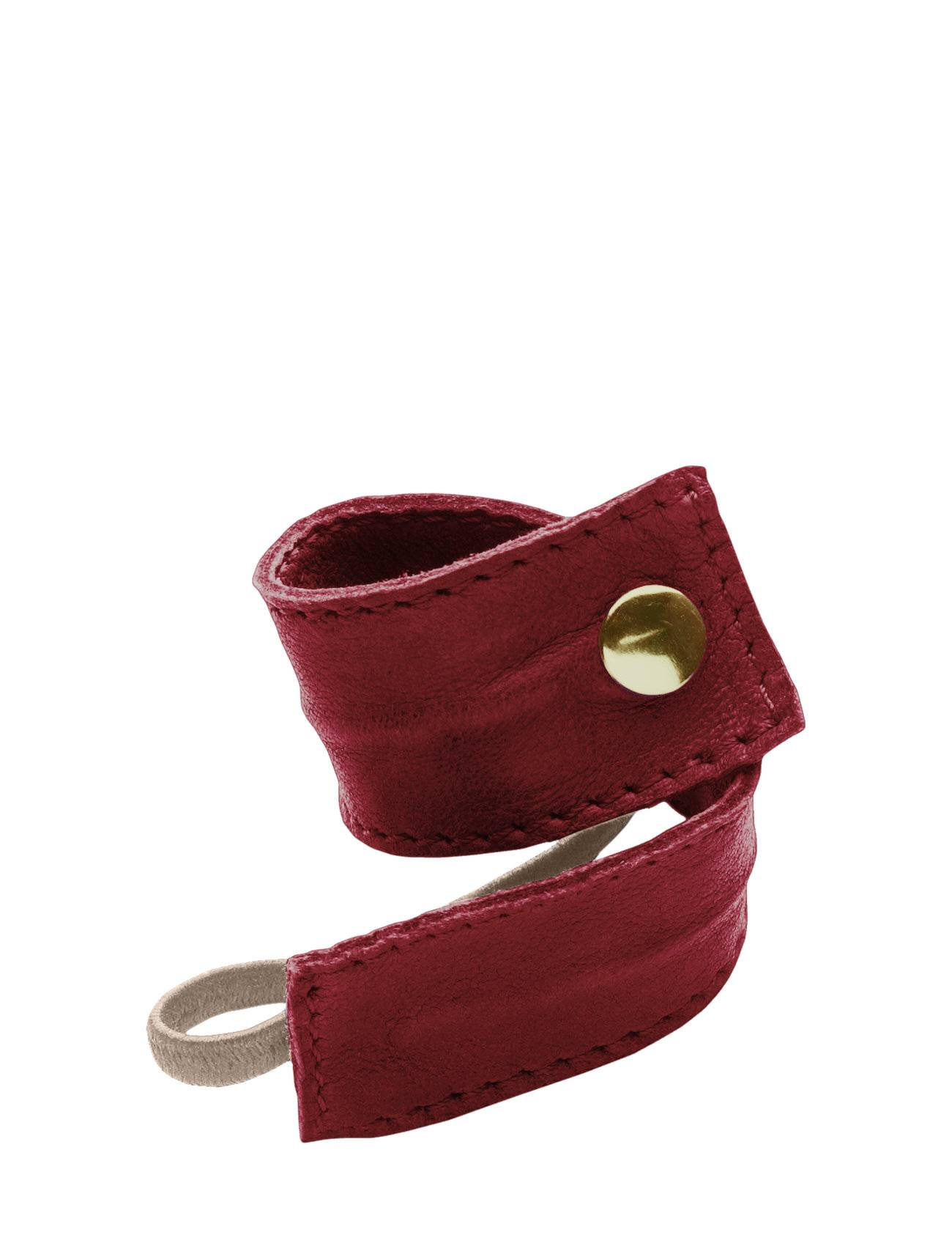 Image of Corinne Leather Band Short Bendable Beauty WOMEN Hair Hair Accessories Punainen Corinne