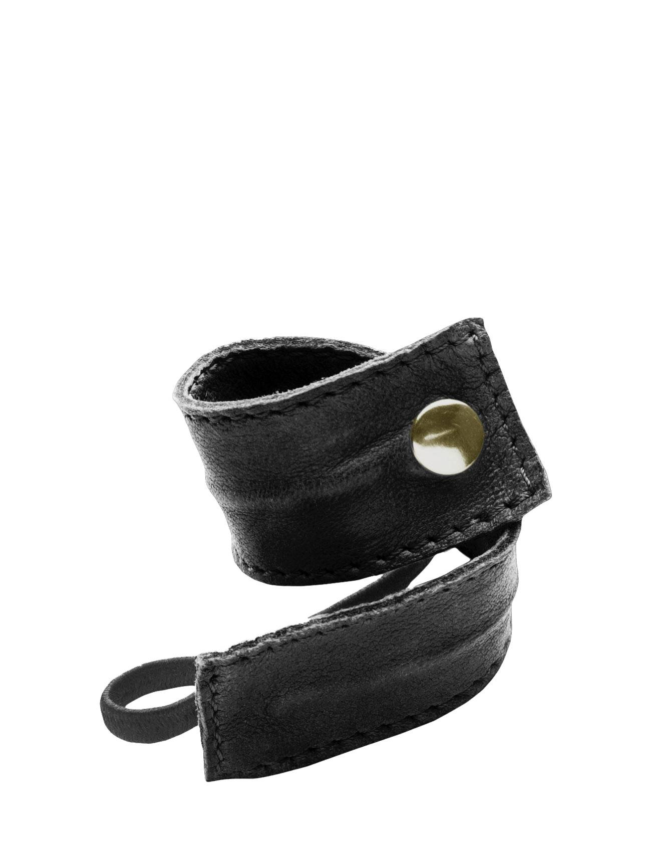 Image of Corinne Leather Band Short Bendable Beauty WOMEN Hair Accessories Hair Accessories Musta Corinne