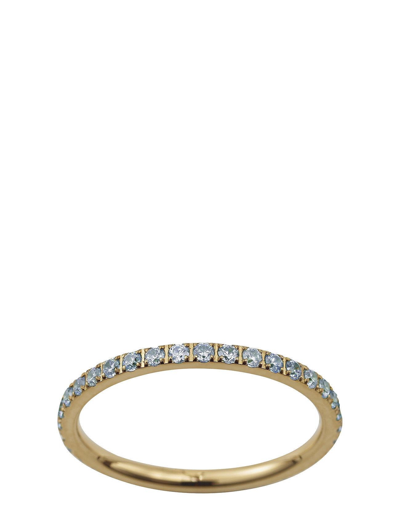 Edblad Glow Ring Micro Pool Blue Gold Sormus Korut Kulta Edblad