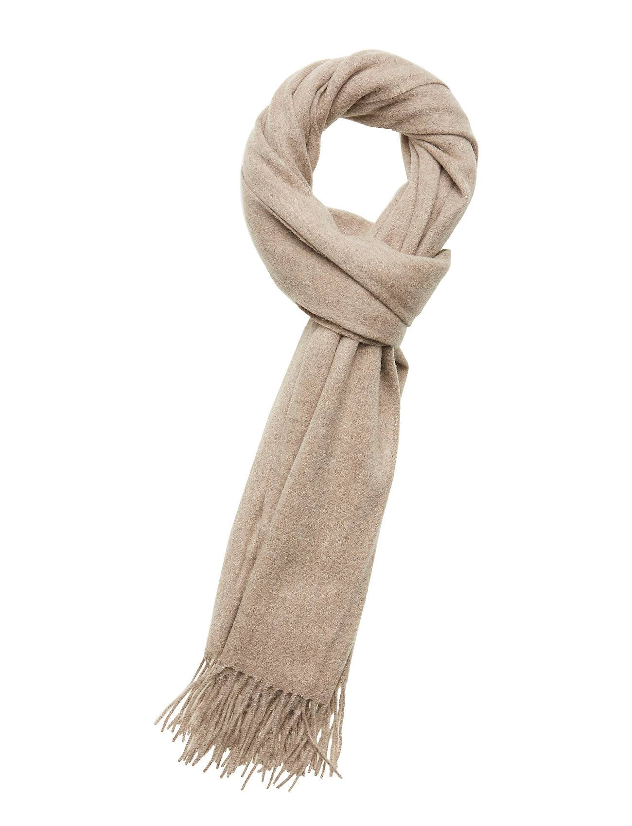 Selected Femme Slftime Wool Scarf B Huivi Beige Selected Femme