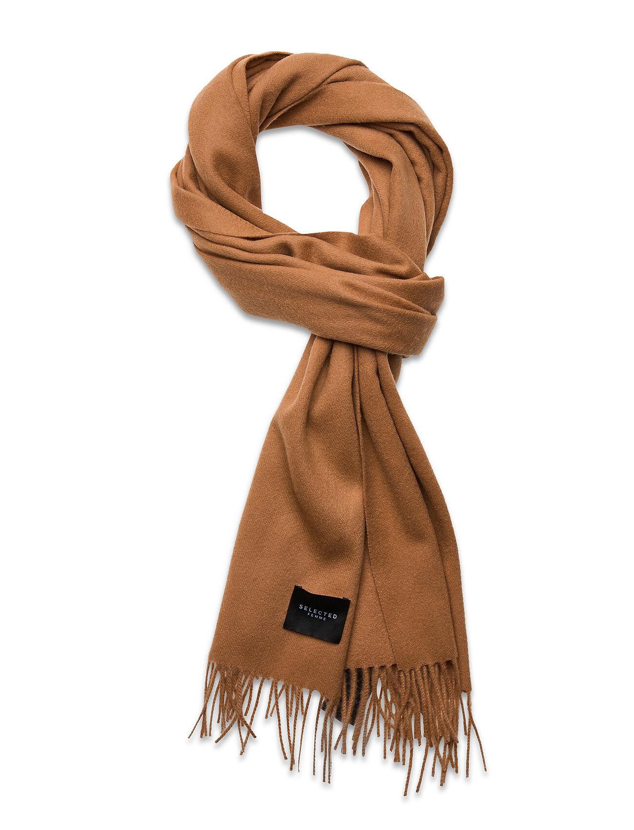 Selected Femme Slftime Wool Scarf B Huivi Ruskea Selected Femme