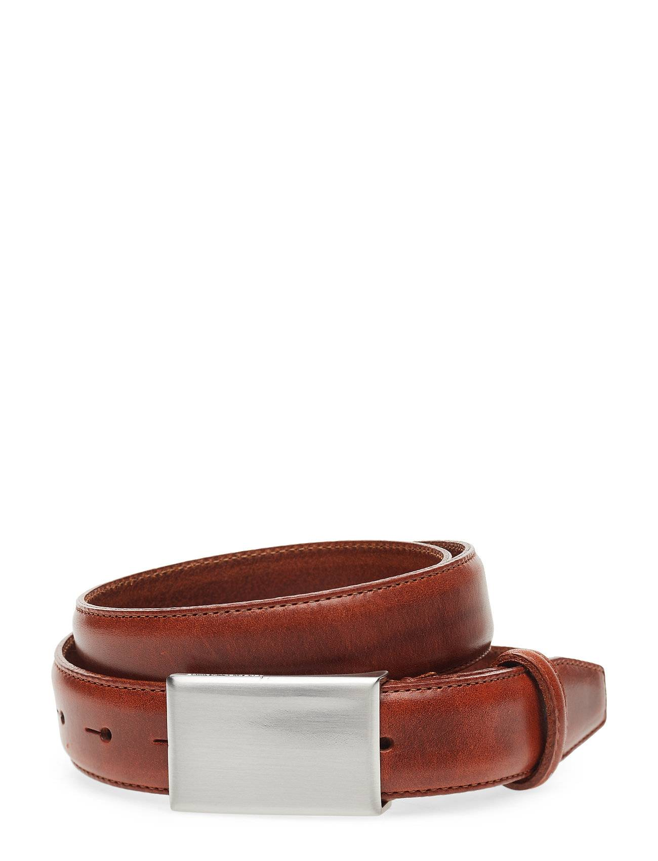 Selected Homme Slhfillip Formal Plate Belt Noos B Accessories Belts Classic Belts Ruskea Selected Homme
