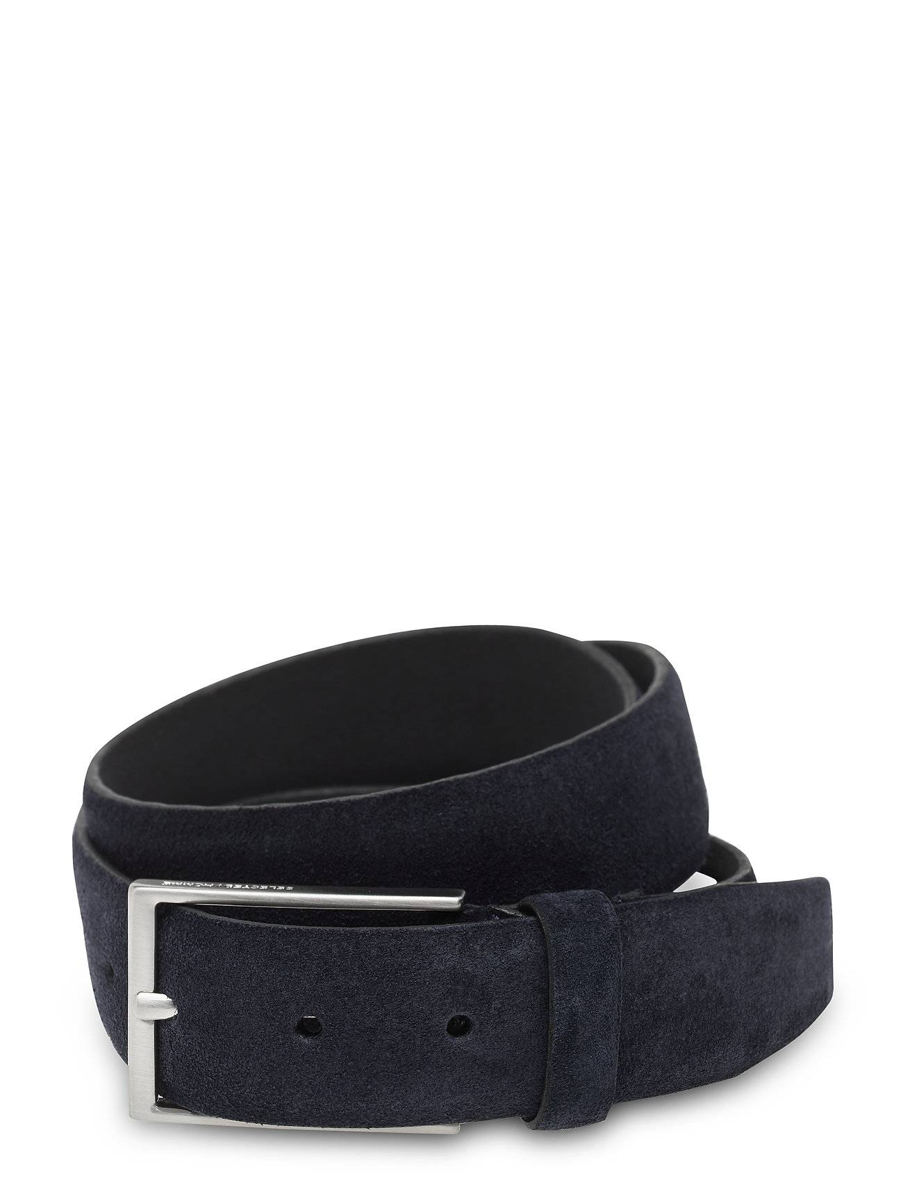 Selected Homme Slhpeter Suede Belt B Accessories Belts Classic Belts Sininen Selected Homme