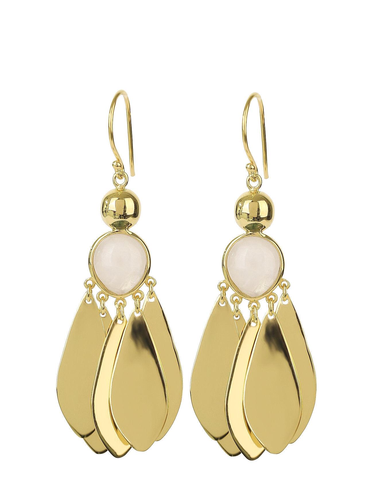 Syster P Flakes Big Earrings Gold Moonst Korvakoru Korut Kulta Syster P