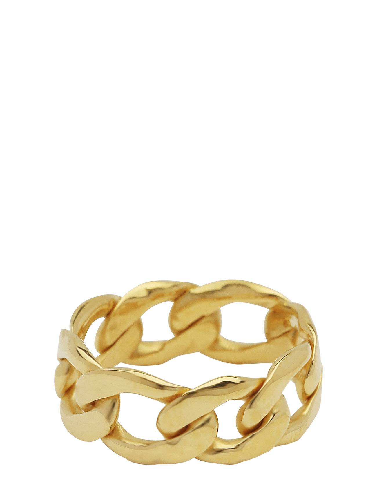 Syster P Links Curb Chain Ring Gold Sormus Korut Kulta Syster P