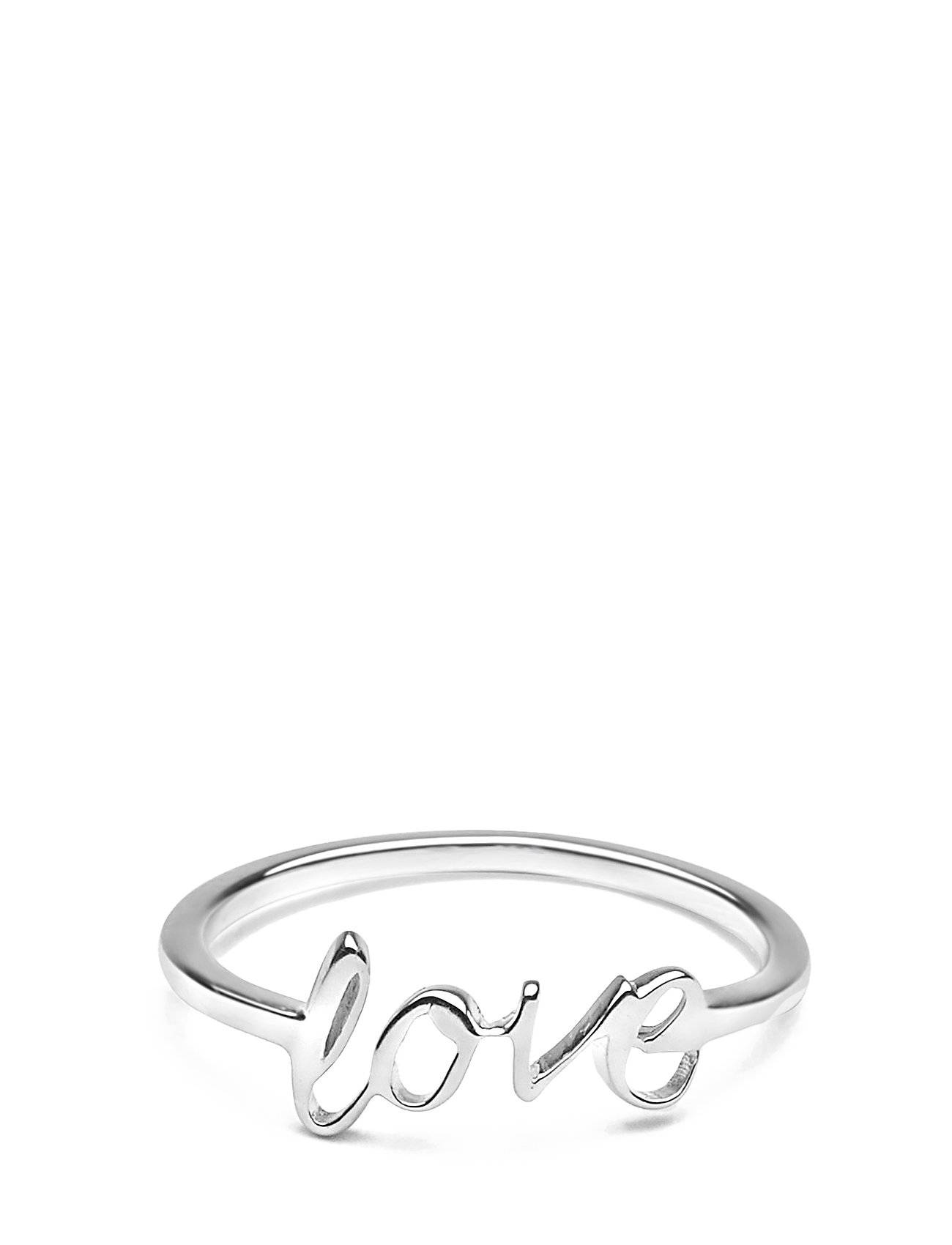 Syster P Snap Ring Love Silver Sormus Korut Hopea Syster P