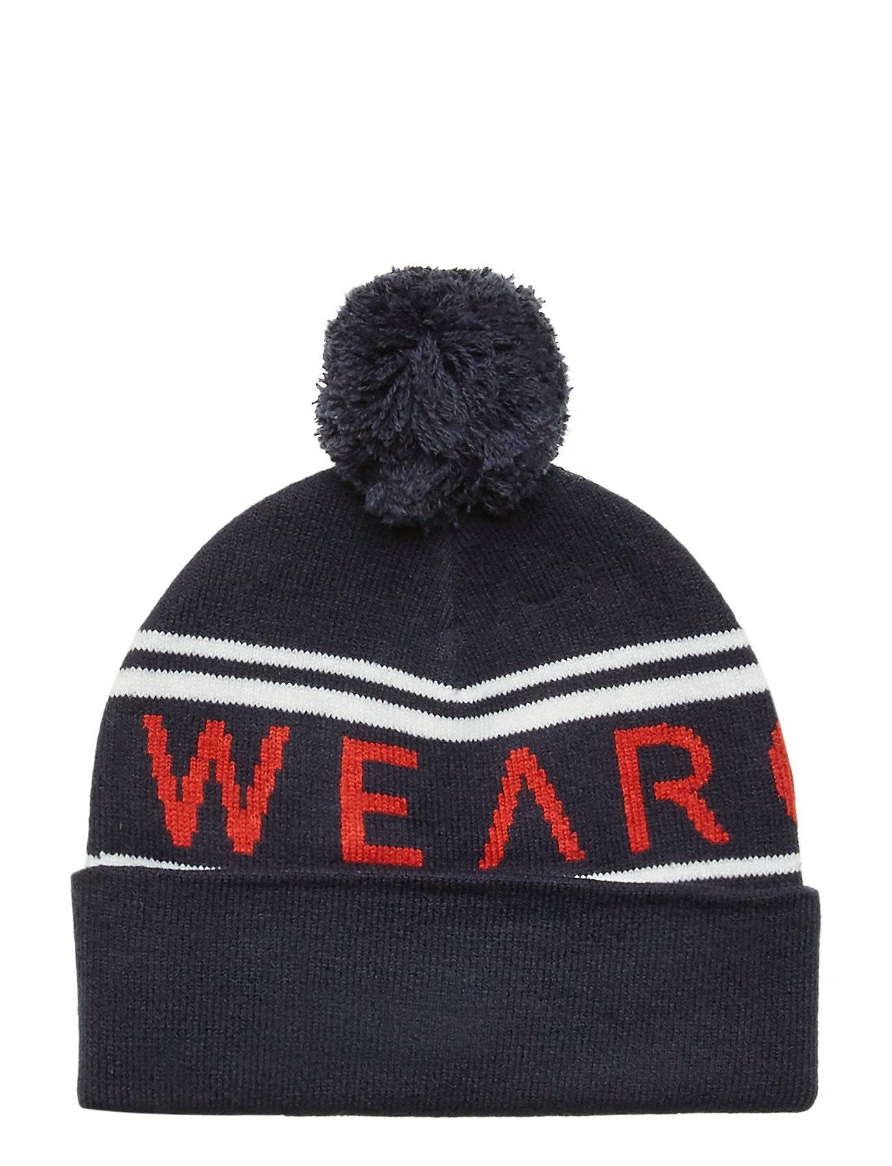 WearColour Knit Beanie Accessories Headwear Beanies Sininen WearColour