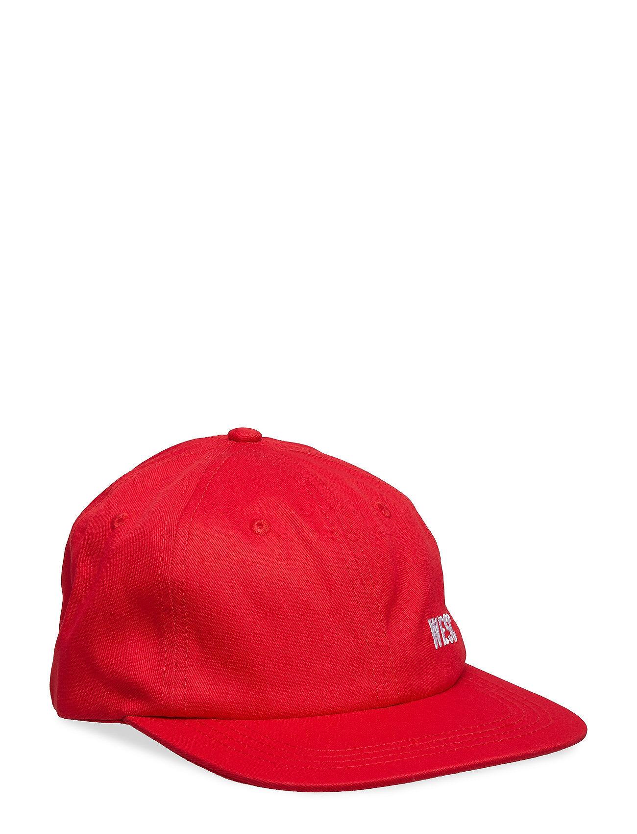 WeSC Hans Tilted Logo Accessories Headwear Caps Punainen WeSC
