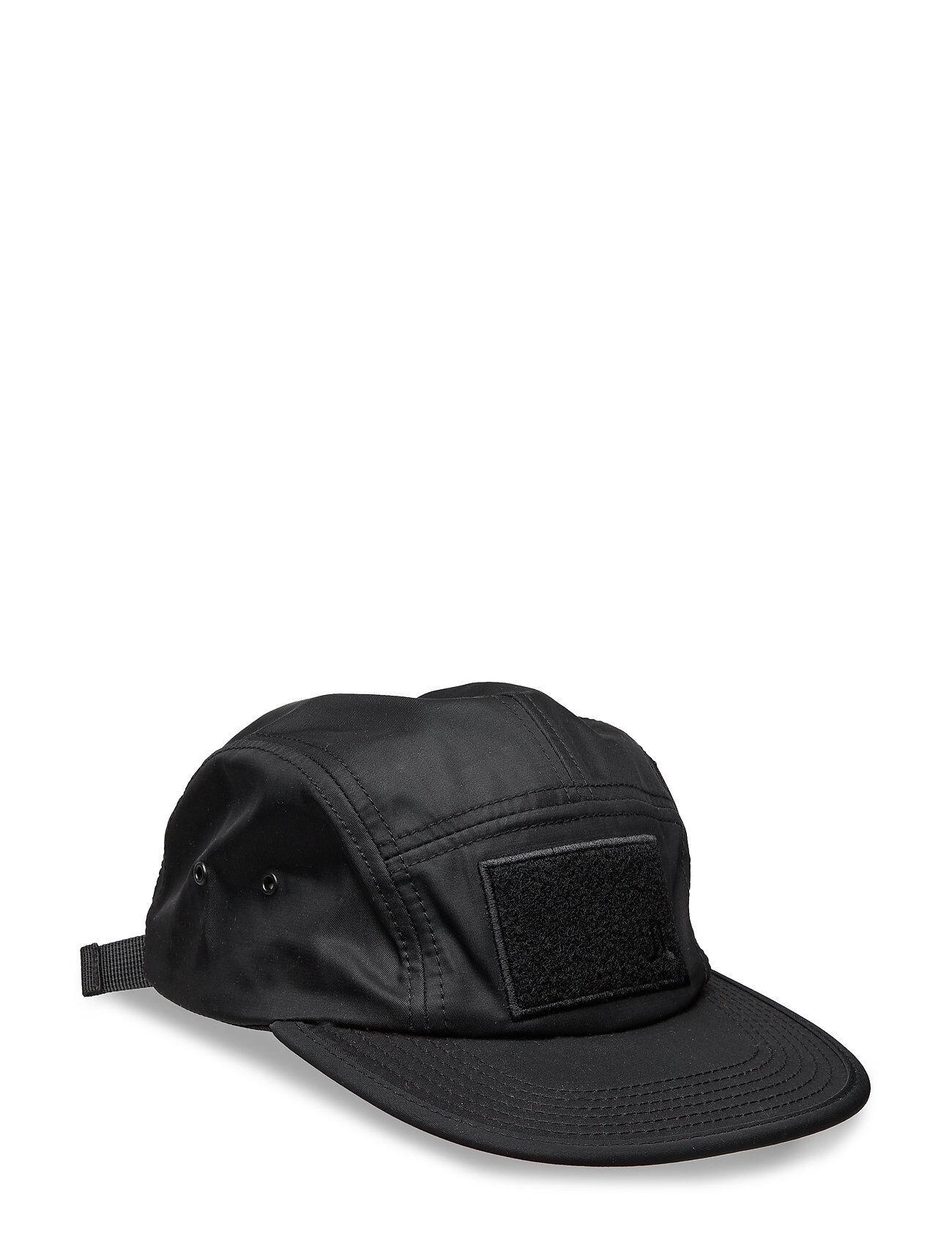 WeSC Soft Velcro 5 Panel Cap Accessories Headwear Caps Musta WeSC