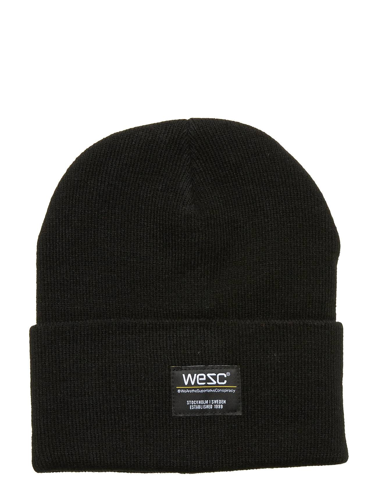 WeSC Puncho Beanie Accessories Headwear Beanies Musta WeSC