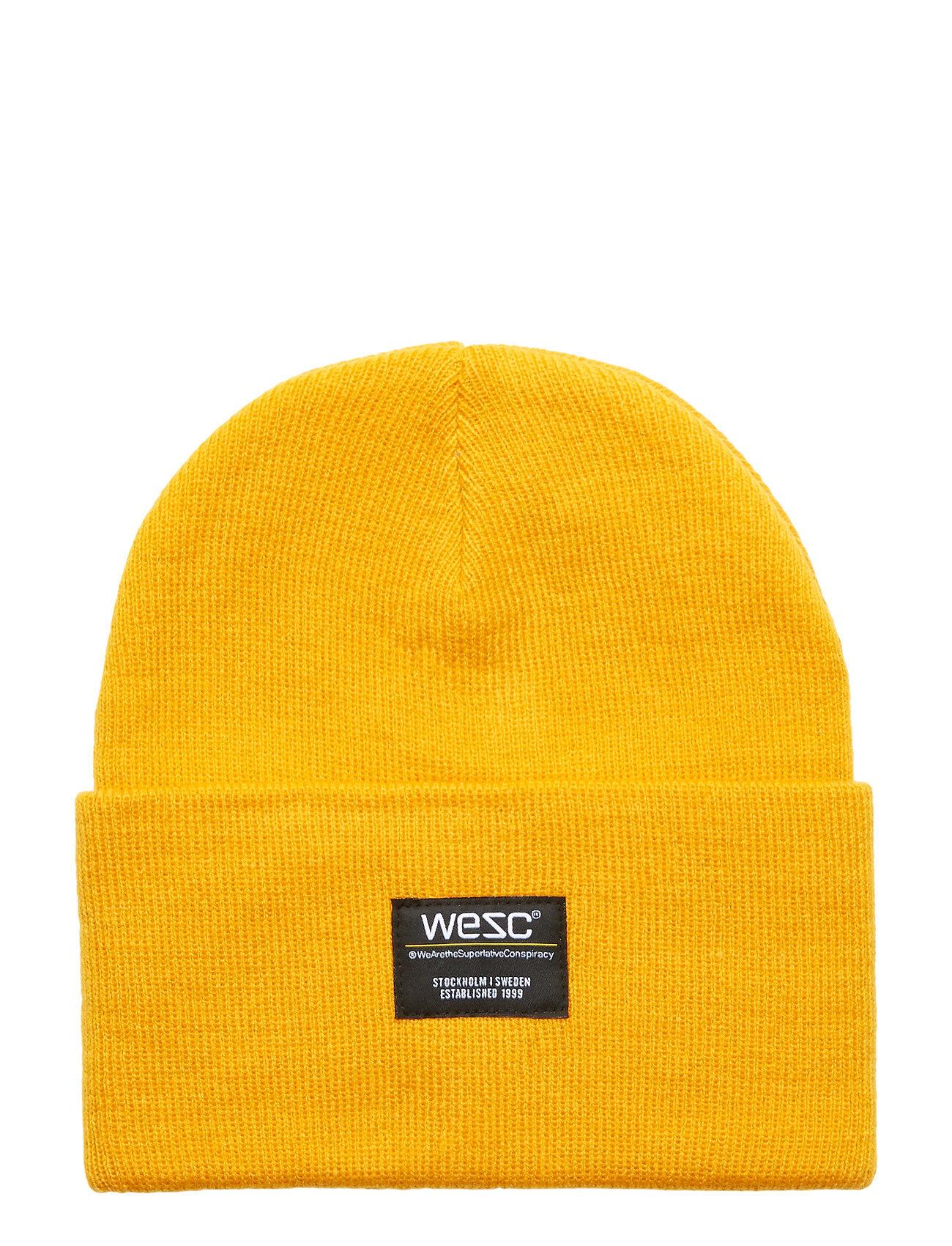 WeSC Puncho Beanie Accessories Headwear Beanies Keltainen WeSC