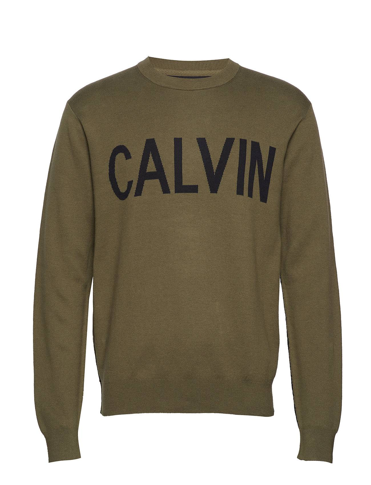 Image of Calvin Cn Sweater Svetari Collegepaita Vihreä Calvin Klein Jeans