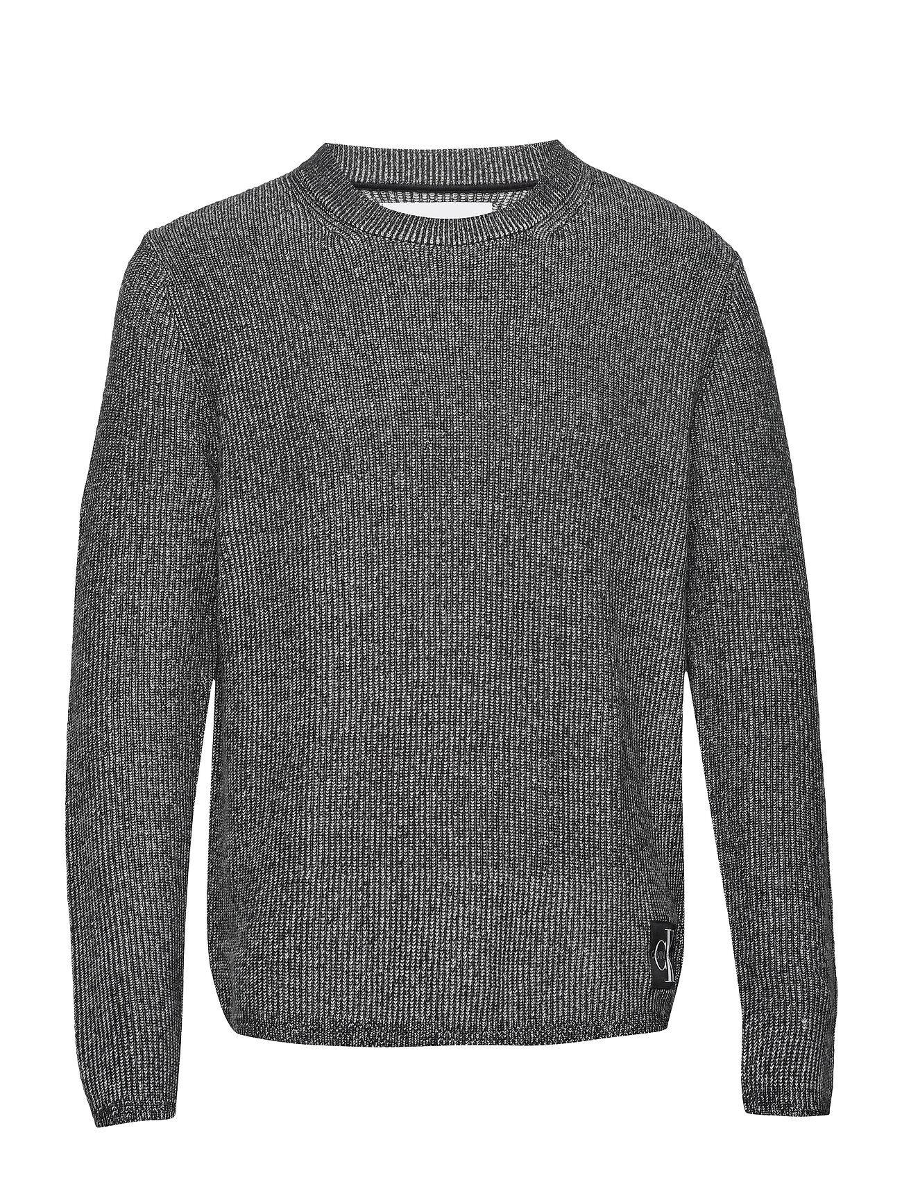 Image of Calvin Two T Cotton Cn Sweater Neulepaita Pyöreä Kaula-aukko Harmaa Calvin Klein Jeans