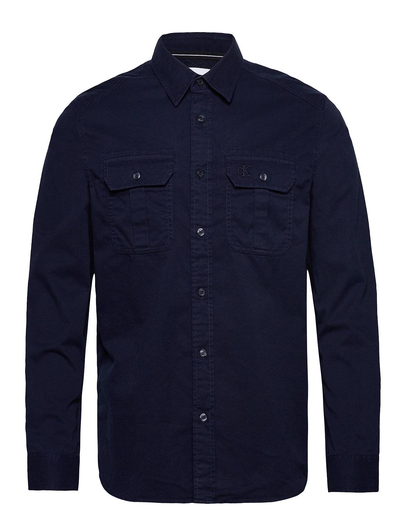 Image of Calvin Gmd Twill Utility Reg Shirt Paita Rento Casual Sininen Calvin Klein Jeans