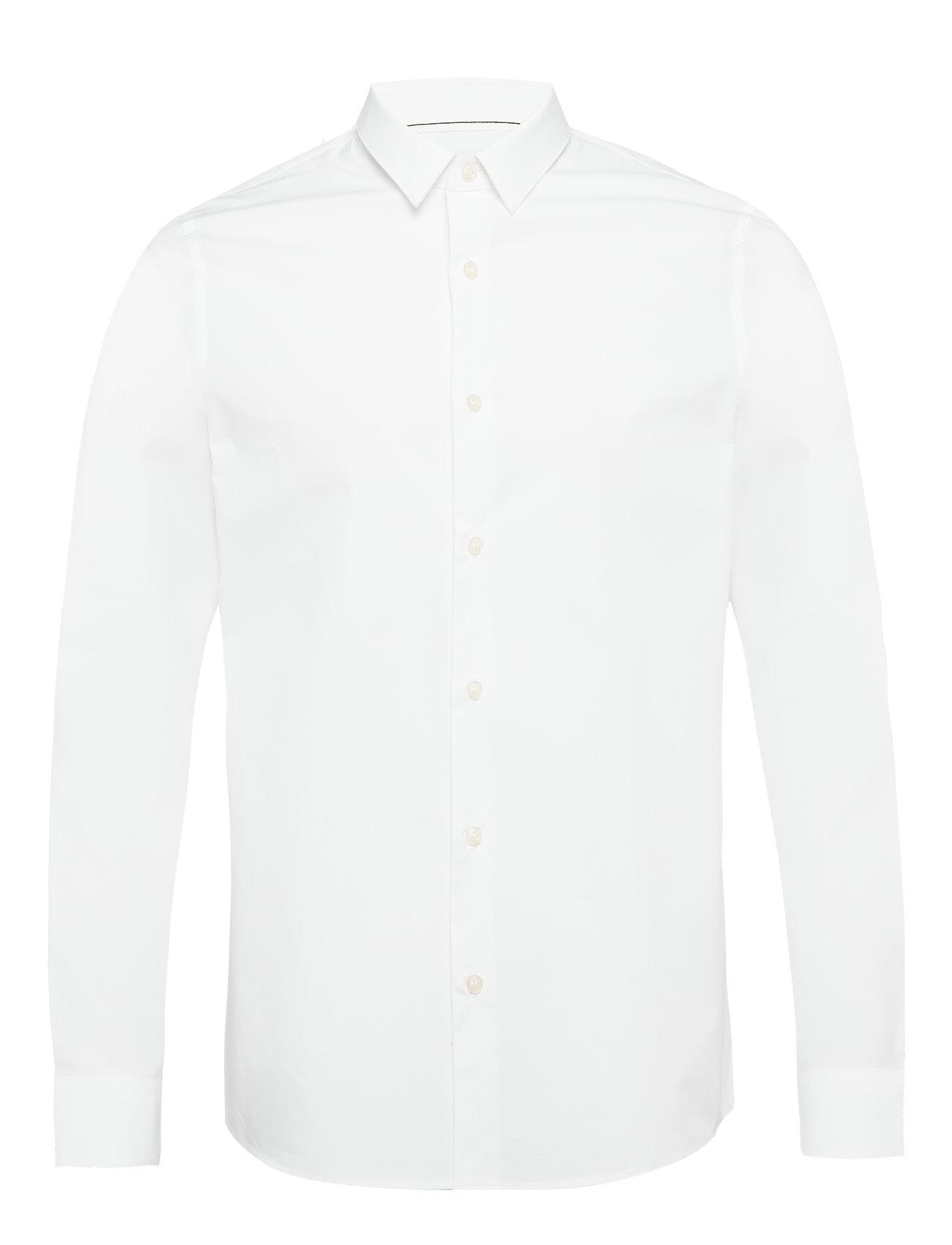 Image of Calvin Ck Chest Logo Slim Stretch Shirt Paita Bisnes Valkoinen Calvin Klein Jeans