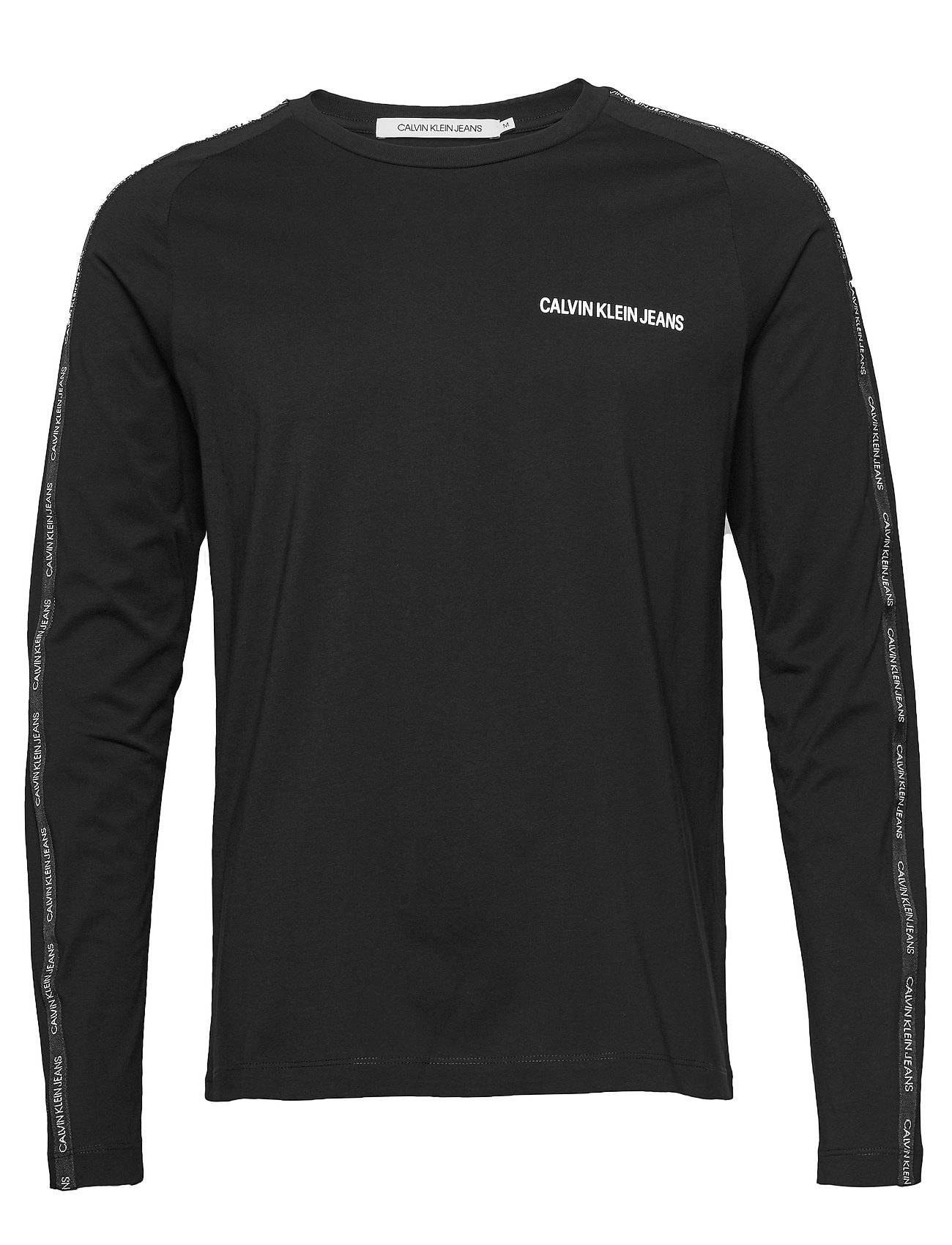 Image of Calvin Instit Tape Slim L/S Tee T-shirts Long-sleeved Musta Calvin Klein Jeans