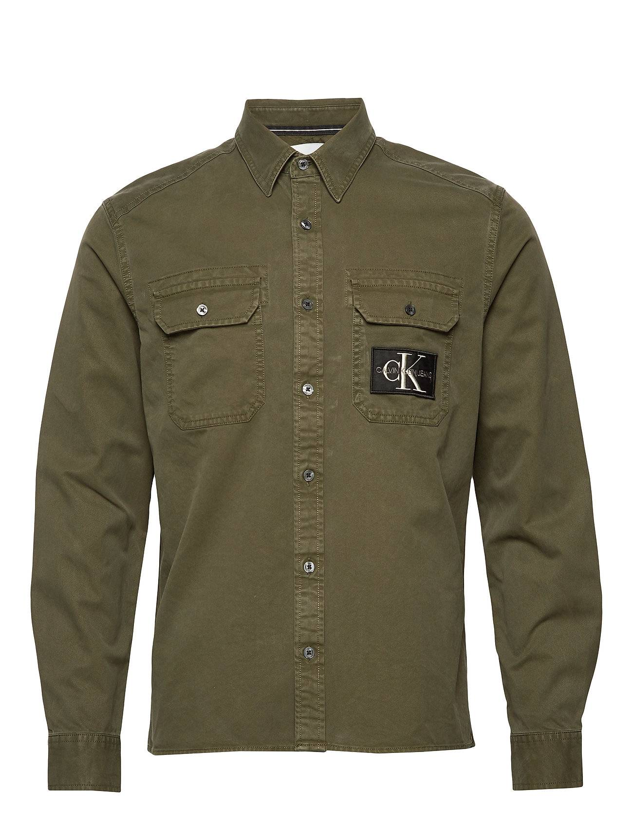 Image of Calvin Gmd Twill Overshirt Reg + Shirt Overshirt Paita Paitatakki Vihreä Calvin Klein Jeans
