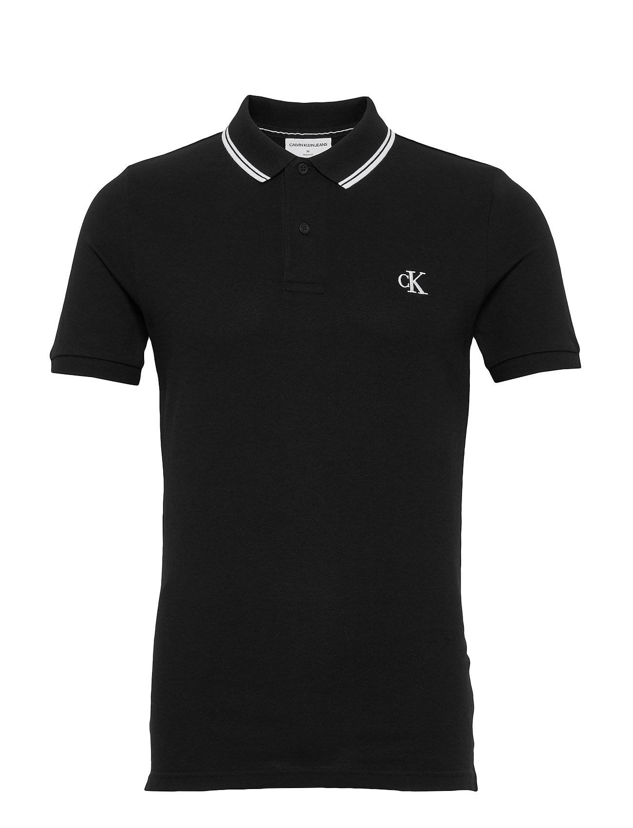 Image of Calvin Ck Essential Tipping Slim Polo Polos Short-sleeved Musta Calvin Klein Jeans