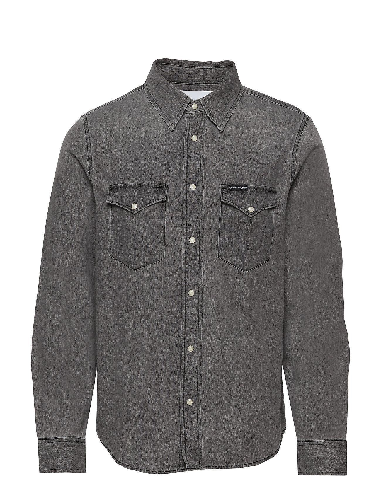 Image of Calvin Modern Western Shirt Paita Rento Casual Harmaa Calvin Klein Jeans