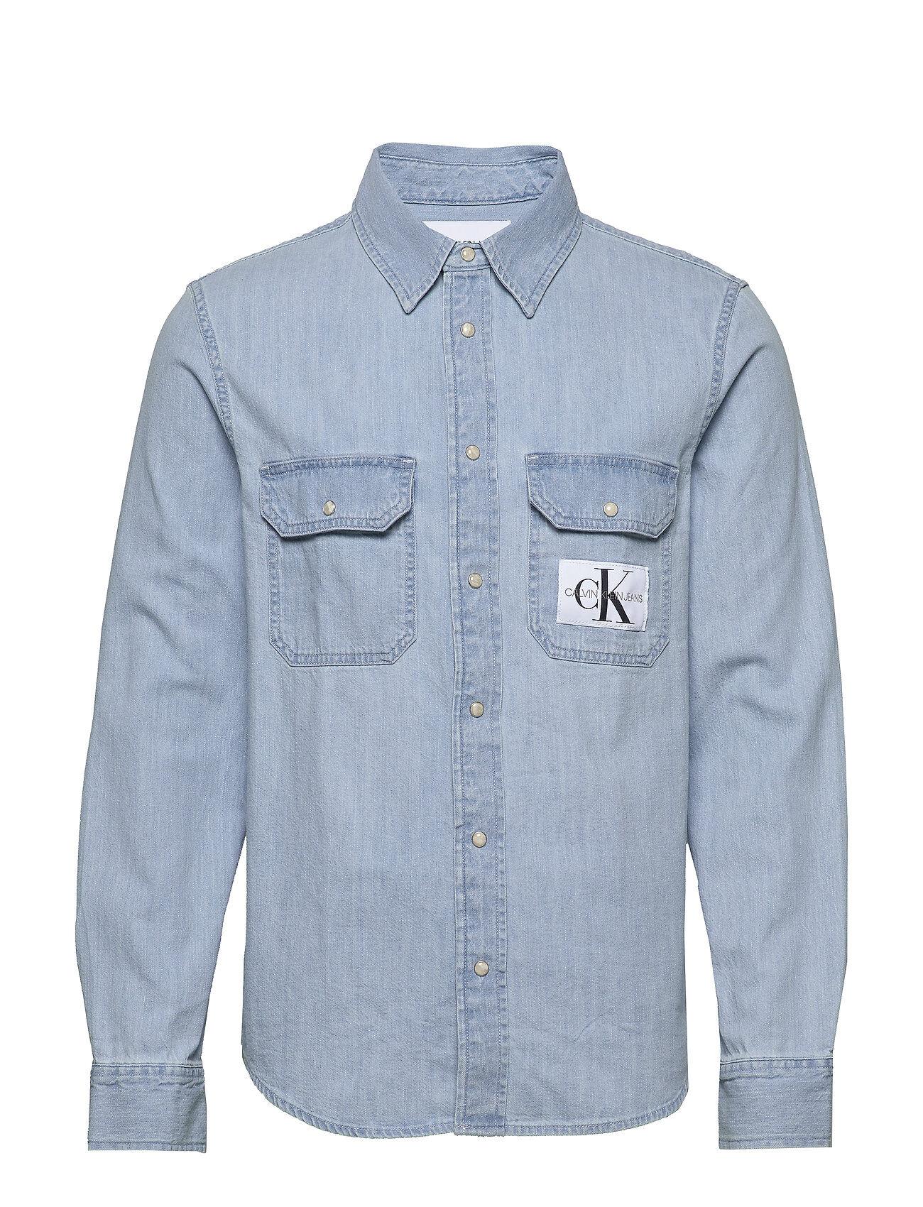 Image of Calvin Modern Utility Shirt Paita Rento Casual Sininen Calvin Klein Jeans