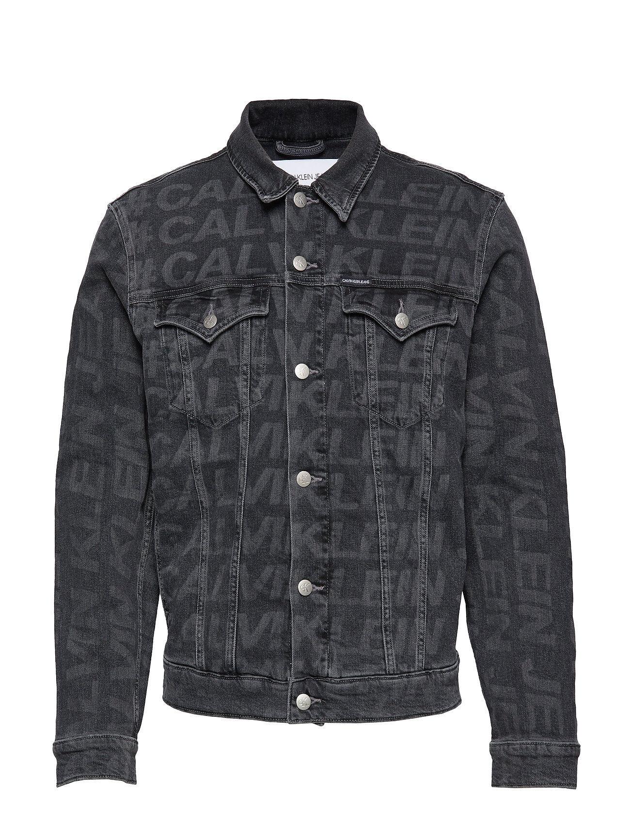 Image of Calvin Foundation Slim Denim Jacket Farkkutakki Denimtakki Harmaa Calvin Klein Jeans