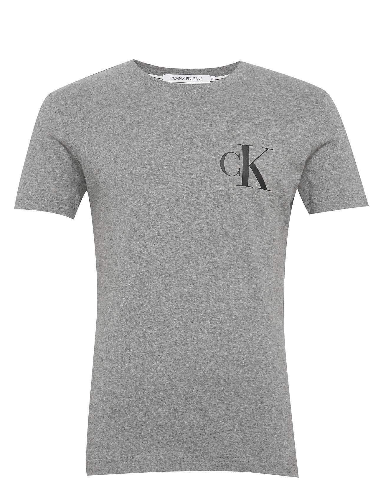 Image of Calvin Instit Back Pop Logo Slim Tee T-shirts Short-sleeved Harmaa Calvin Klein Jeans
