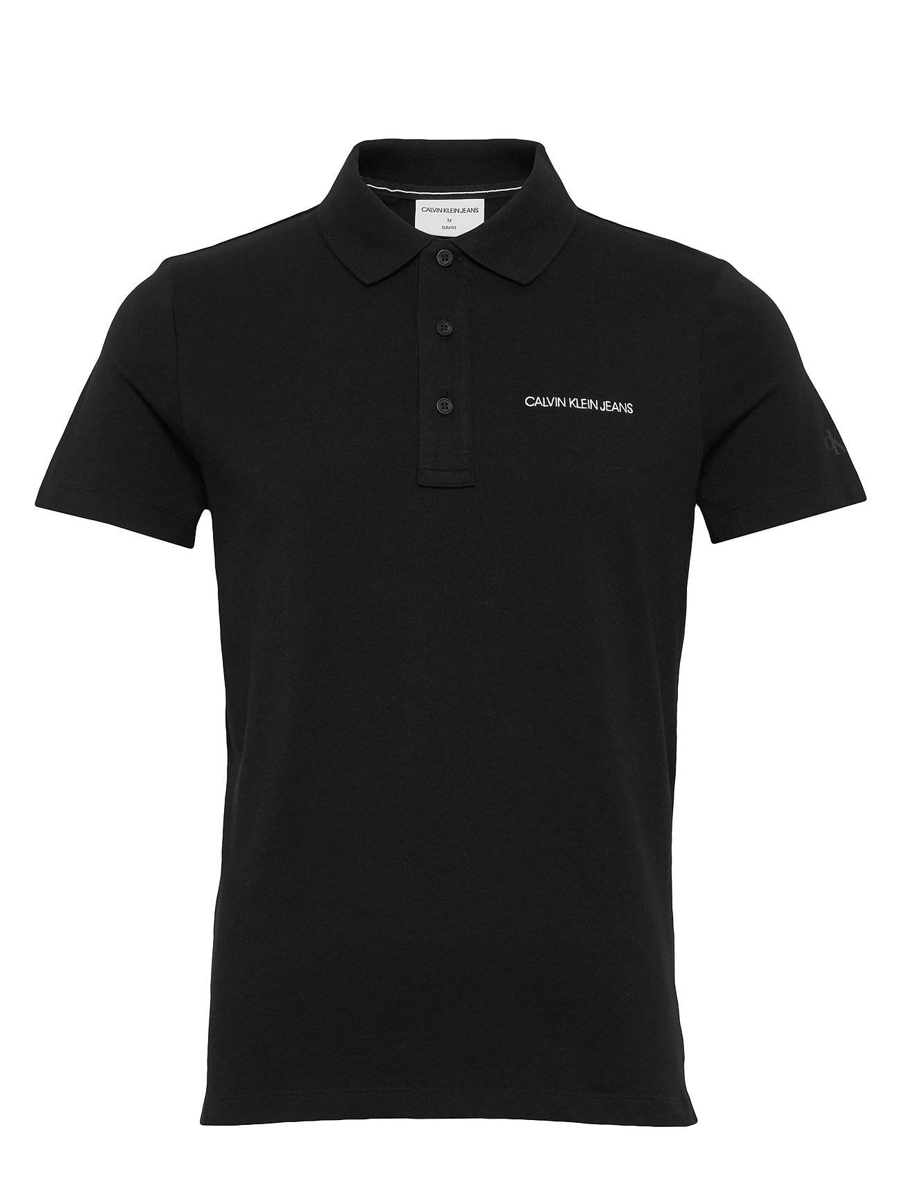 Image of Calvin Stretch Institutional Polo Slim Polos Short-sleeved Musta Calvin Klein Jeans