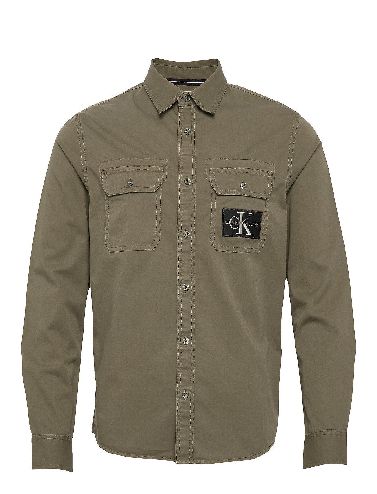 Image of Calvin Gmd Utility Reg Shirt Paita Rento Casual Vihreä Calvin Klein Jeans