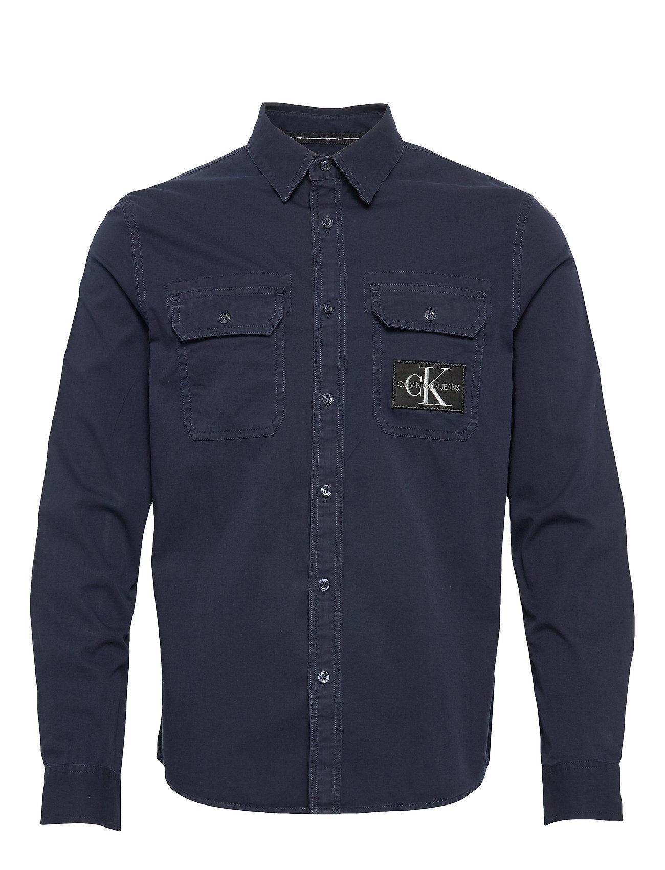 Image of Calvin Gmd Utility Reg Shirt Paita Rento Casual Sininen Calvin Klein Jeans