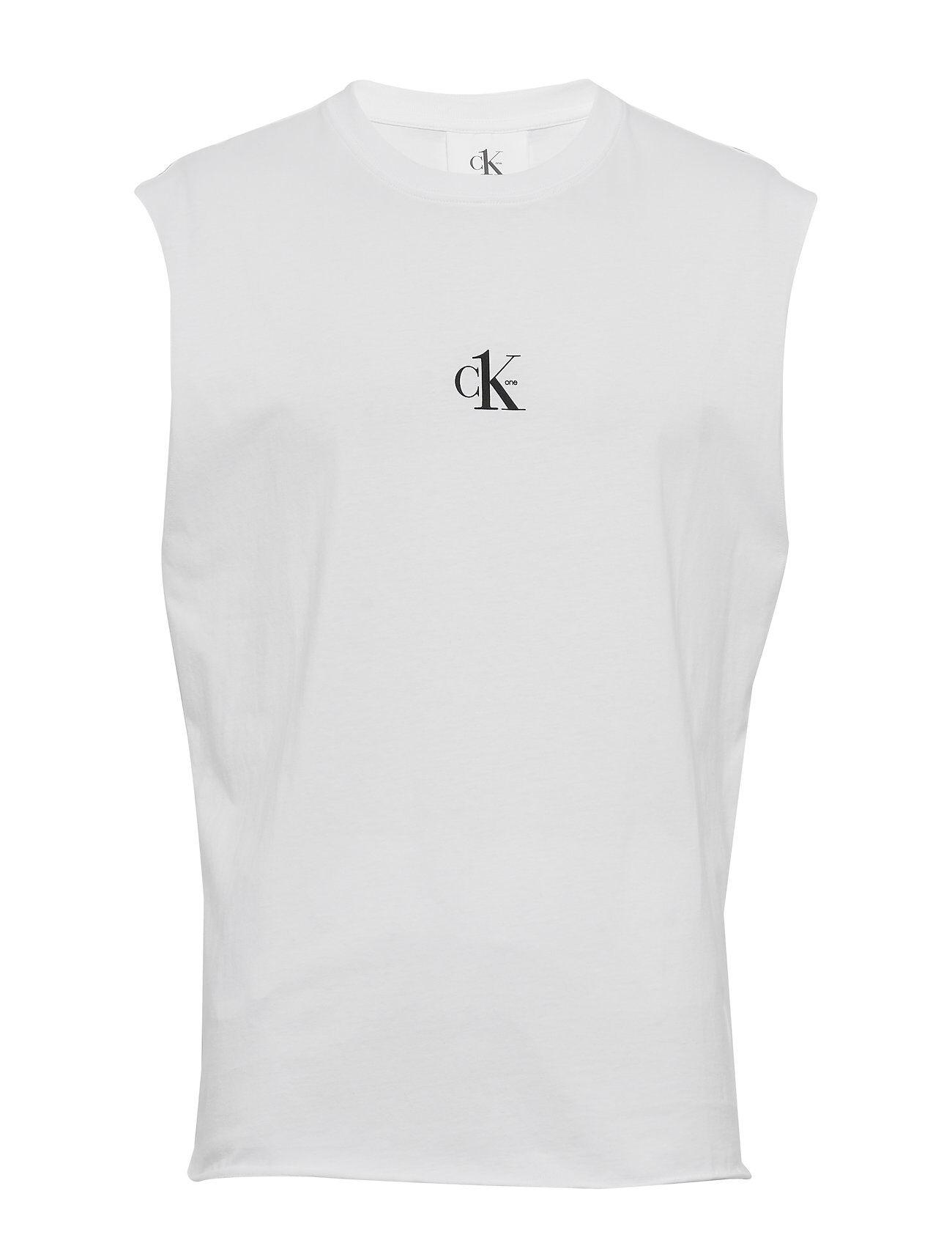 Image of Calvin Small Logo Regular Sls Tee T-shirts Sleeveless Valkoinen Calvin Klein Jeans