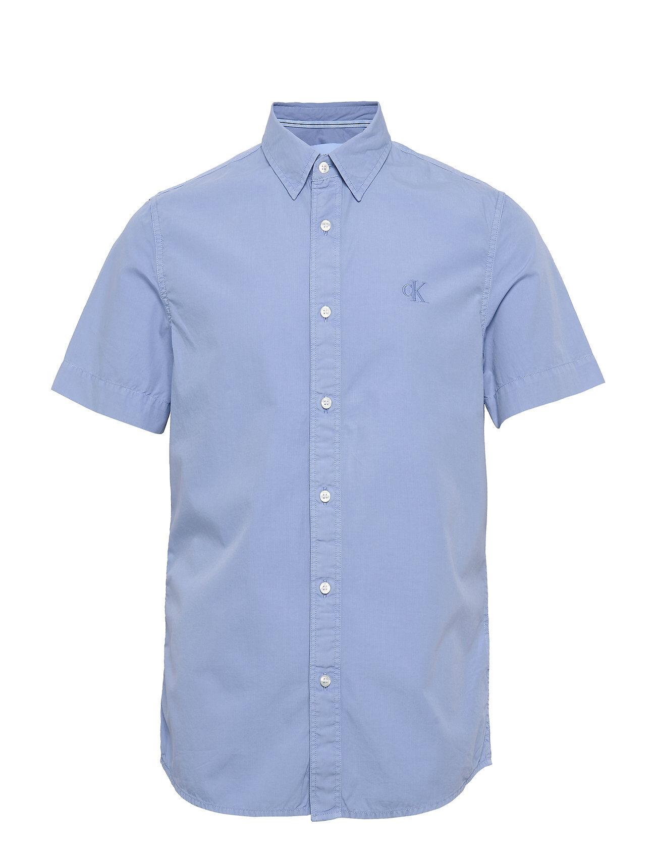 Image of Calvin Gmd 40' Poplin Ss Shirt Lyhythihainen Paita Sininen Calvin Klein Jeans