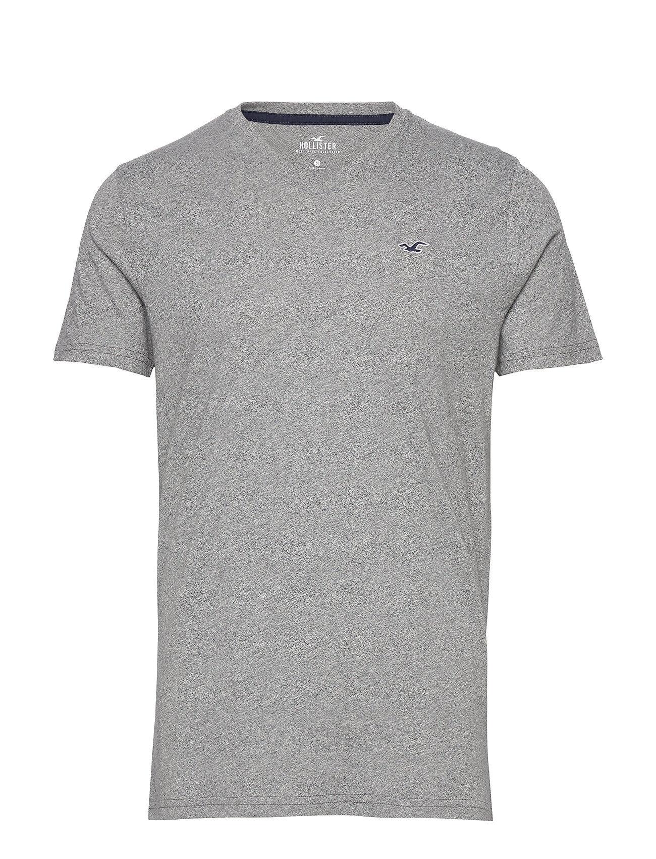 Hollister V Solids T-shirts Short-sleeved Harmaa Hollister